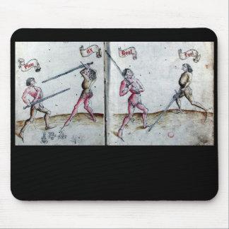 Cojín de ratón heroico de la fantasía de Ink Iron Tapetes De Raton