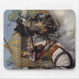 Cojín de ratón heroico de la fantasía de Ink Iron Tapete De Ratones