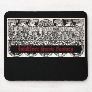 Cojín de ratón heroico de la fantasía de Ink Iron Tapetes De Ratón