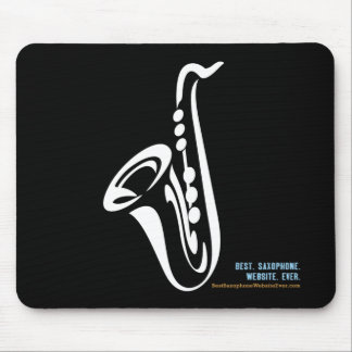 Cojín de ratón ilustrado del saxofón mouse pad