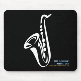 Cojín de ratón ilustrado del saxofón tapete de raton