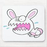 Cojín de ratón insano loco del conejo de conejito tapete de ratón