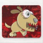 Cojín de ratón insano loco del perro de perrito tapete de raton