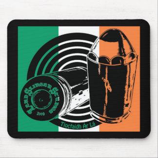 Cojín de ratón irlandés de la bandera del logotipo tapetes de ratón