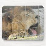 Cojín de ratón irritable del león tapetes de ratón