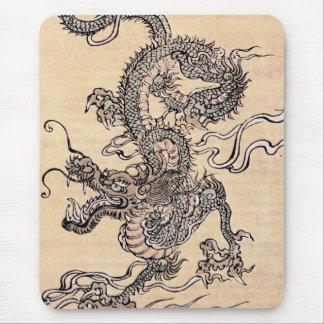 Cojín de ratón japonés del dragón alfombrillas de raton