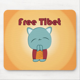 Cojín de ratón libre del gatito de Kawaii Tíbet Tapete De Ratón