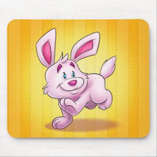 cojín de ratón lindo del conejito del dibujo mousepad