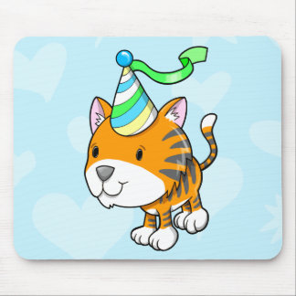 Cojín de ratón lindo del cumpleaños de Cub de tigr Alfombrilla De Ratón