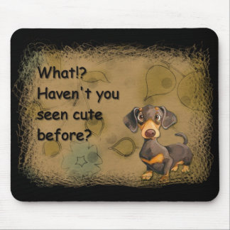 cojín de ratón lindo del dachshund mouse pads