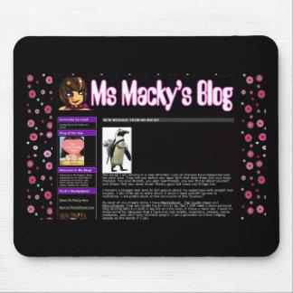cojín de ratón macky del ms de http://blog.mackypl alfombrilla de ratones