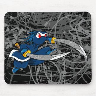 Cojín de ratón malvado de la camiseta de Ninja del Alfombrilla De Ratón