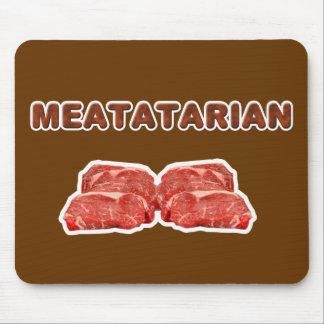 cojín de ratón meatatarian tapete de raton