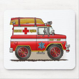 Cojín de ratón médico de Van del rescate Tapetes De Raton