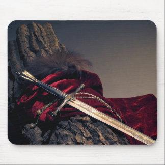 Cojín de ratón medieval de la espada mousepads
