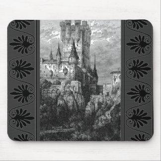 Cojín de ratón medieval del castillo mouse pad