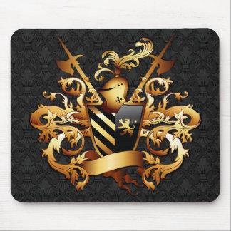 Cojín de ratón medieval del escudo de armas tapete de ratones