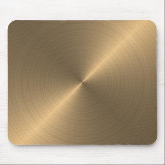 Cojín de ratón metálico de la mirada del oro alfombrilla de ratón