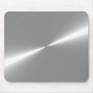 Cojín de ratón metálico de plata de la mirada mouse pad