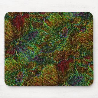 Cojín de ratón metálico multicolor del estampado tapetes de raton