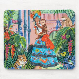Cojín de ratón mexicano tropical del chica el | alfombrillas de ratón
