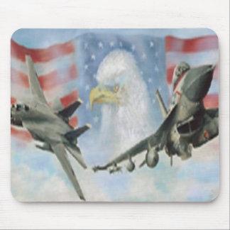 Cojín de ratón militar americano de los aeroplanos tapetes de ratón