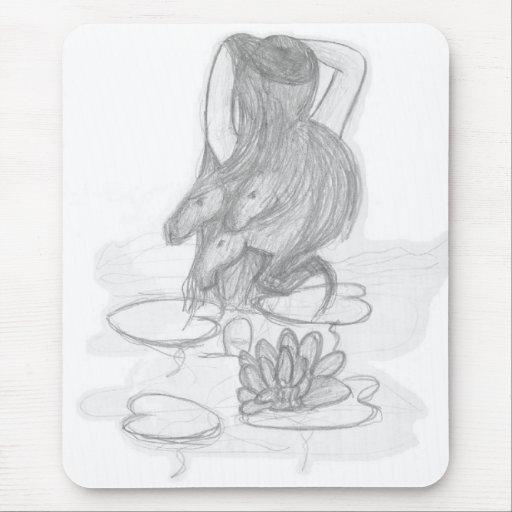 Cojín de ratón místico de la fantasía mousepad