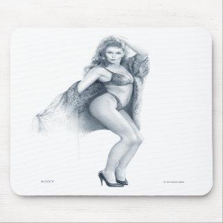 "Cojín de ratón modelo del chica de ""ROXY"" Tapetes De Raton"