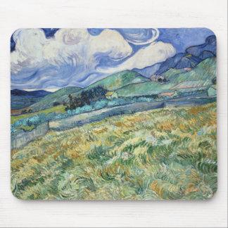 Cojín de ratón montañoso del paisaje de Van Gogh Tapete De Ratón
