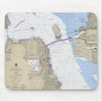 Cojín de ratón náutico de la carta de San Francisc Tapete De Raton