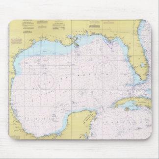 Cojín de ratón náutico de la carta del Golfo de Mé Tapetes De Ratón