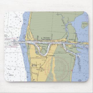 Cojín de ratón náutico de la carta del puerto de C Tapete De Raton