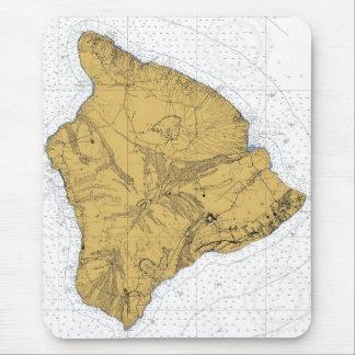 Cojín de ratón náutico de la carta Hawaii Alfombrillas De Raton