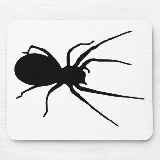 Cojín de ratón negro de la araña mousepad