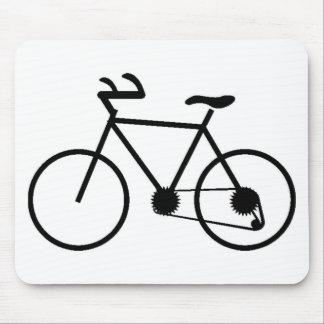 Cojín de ratón negro de la bicicleta creado para r alfombrilla de ratones