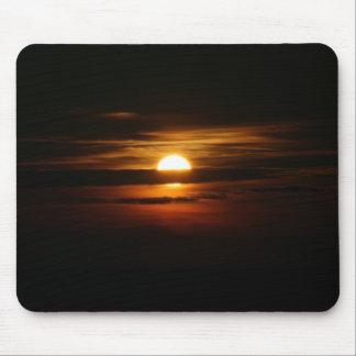 Cojín de ratón negro de la puesta del sol 2 alfombrilla de ratón