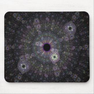 Cojín de ratón negro y rosado del fractal mouse pads