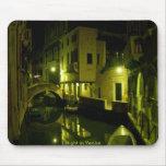 cojín de ratón, noche en Venecia Tapetes De Ratón