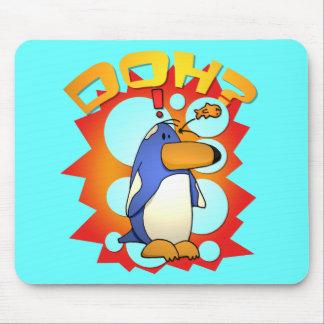 Cojín de ratón olvidadizo del pingüino alfombrillas de raton