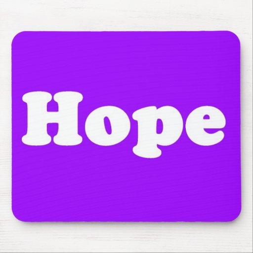 Cojín de ratón optimista púrpura de la esperanza alfombrillas de ratón