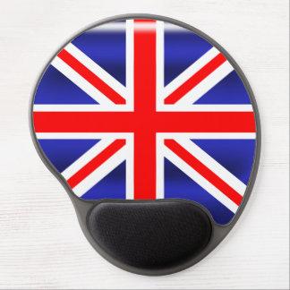 Cojín de ratón oval del gel de Union Jack Alfombrilla De Raton Con Gel