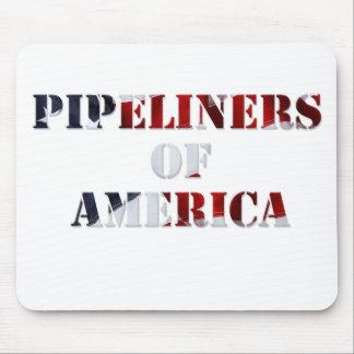 Cojín de ratón para los pipeliners de América Tapete De Ratón