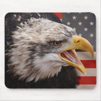 Cojín de ratón patriótico de la imagen de Eagle Alfombrillas De Ratones