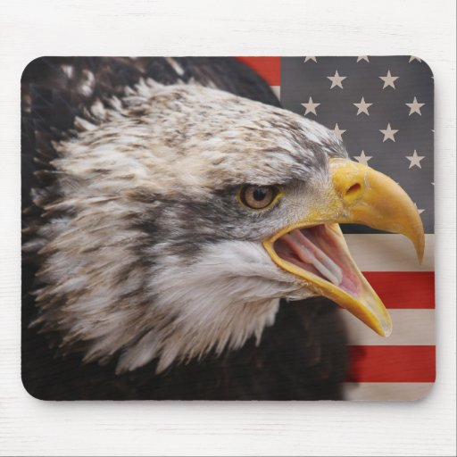 Cojín de ratón patriótico de la imagen de Eagle Tapete De Ratones