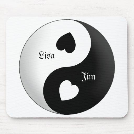 Cojín de ratón personalizado del amor de Yin Yang Mouse Pads