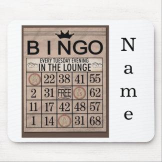 Cojín de ratón personalizado del bingo alfombrillas de ratones