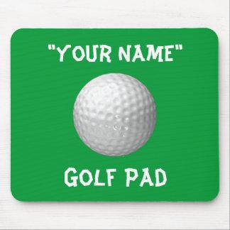 Cojín de ratón personalizado del golf tapete de ratón