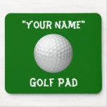 Cojín de ratón personalizado del golf alfombrilla de raton