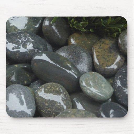 Cojín de ratón, piedras mojadas alfombrillas de ratones