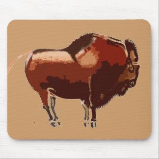 Cojín de ratón pintado del bisonte alfombrilla de ratón